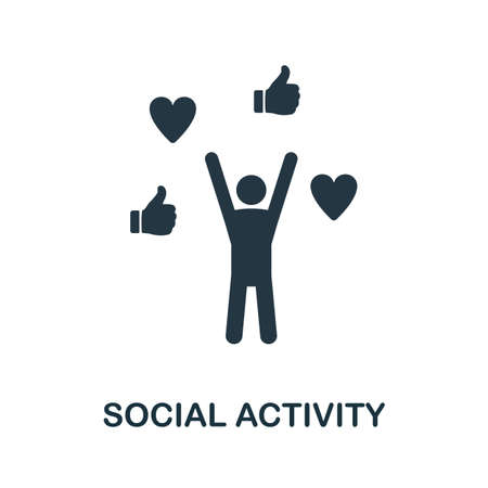 Social Activity icon. Simple element from business technology collection. Filled Social Activity icon for templates, infographics and more