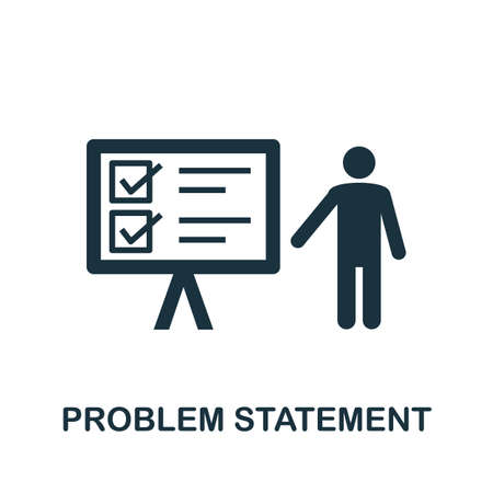 Problem Statement icon. Simple element from business technology collection. Filled Problem Statement icon for templates, infographics and more Ilustração
