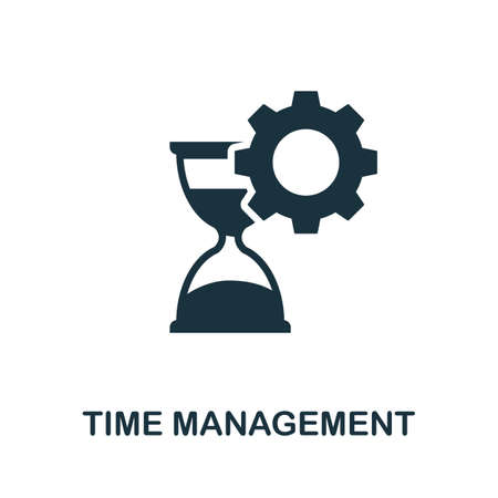 Time Management icon. Simple element from business technology collection. Filled Time Management icon for templates, infographics and more Ilustração