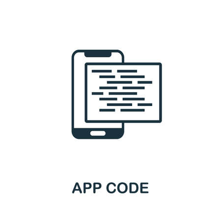 App Code icon. Simple element from app development collection. Filled App Code icon for templates, infographics and more 矢量图像