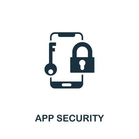 App Security icon. Simple element from app development collection. Filled App Security icon for templates, infographics and more