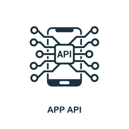 App Api icon. Simple element from app development collection. Filled App Api icon for templates, infographics and more 矢量图像
