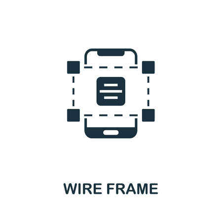 Wire Frame icon. Simple element from app development collection. Filled Wire Frame icon for templates, infographics and more 矢量图像