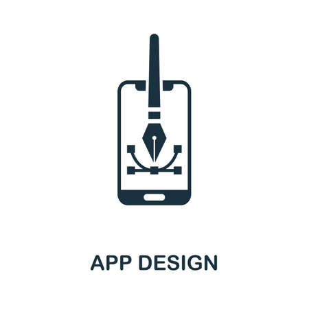 App Design icon. Simple element from app development collection. Filled App Design icon for templates, infographics and more
