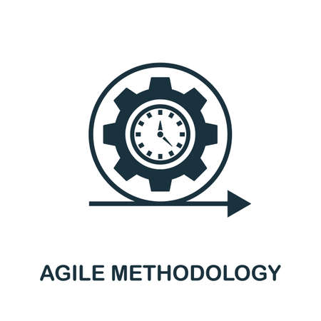 Agile Methodology icon. Simple element from app development collection. Filled Agile Methodology icon for templates, infographics and more