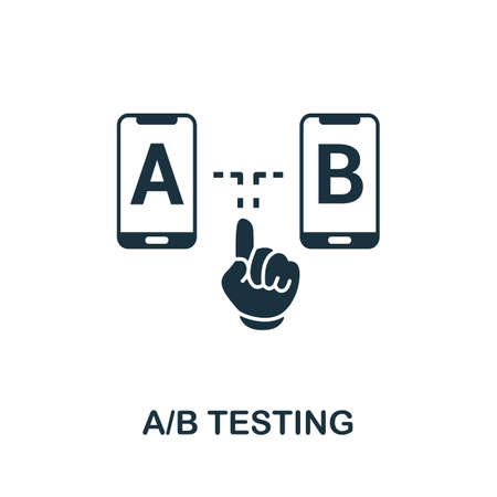 A B Testing icon. Simple element from app development collection. Filled A B Testing icon for templates, infographics and more 矢量图像