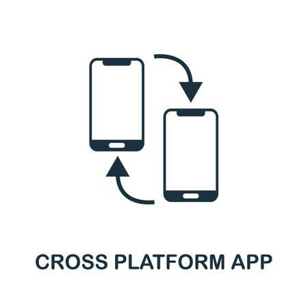 Cross Platform App icon. Simple element from app development collection. Filled Cross Platform App icon for templates, infographics and more 矢量图像