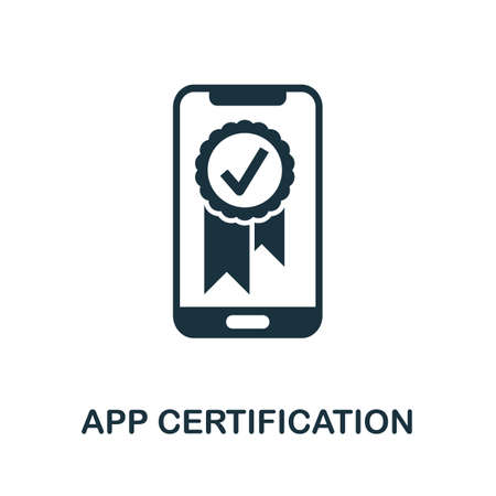 App Certification icon. Simple element from app development collection. Filled App Certification icon for templates, infographics and more