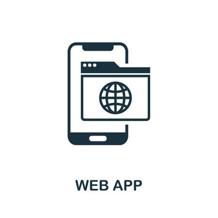 Web App icon. Simple element from app development collection. Filled Web App icon for templates, infographics and more