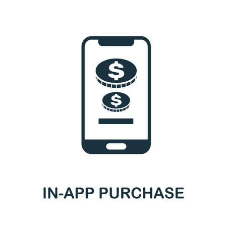 In-App Purchase icon. Simple element from app development collection. Filled In-App Purchase icon for templates, infographics and more