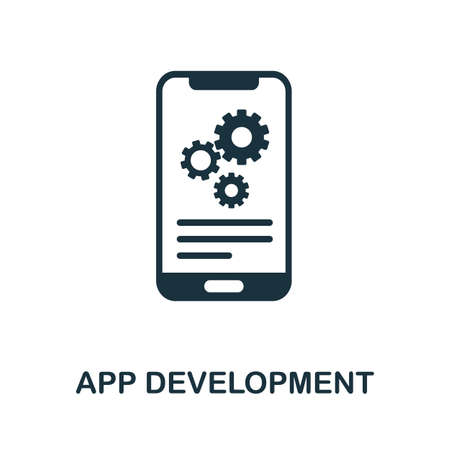 App Development icon. Simple creative element. Filled App Development icon for templates, infographics and more