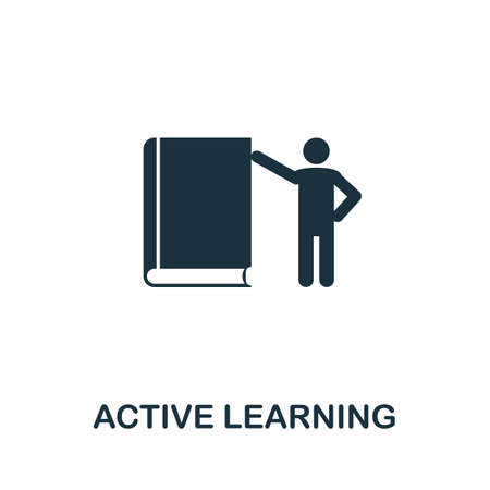 Active Learning icon. Simple element from life skills collection. Filled Active Learning icon for templates, infographics and more