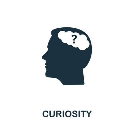 Curiosity icon. Simple element from life skills collection. Filled Curiosity icon for templates, infographics and more
