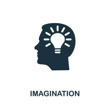 Imagination icon. Simple element from life skills collection. Filled Imagination icon for templates, infographics and more