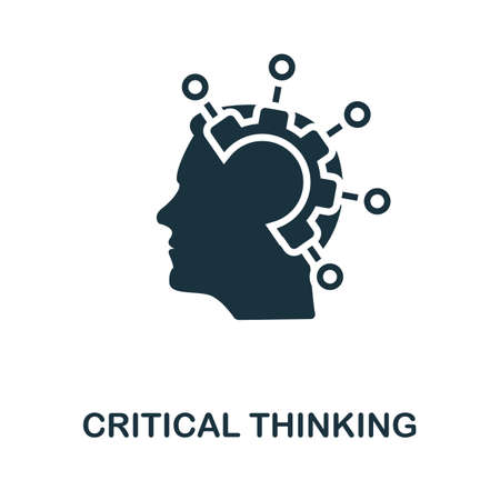 Critical Thinking icon. Simple element from life skills collection. Filled Critical Thinking icon for templates, infographics and more