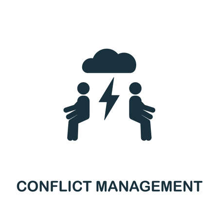 Conflict Management icon. Simple element from life skills collection. Filled Conflict Management icon for templates, infographics and more