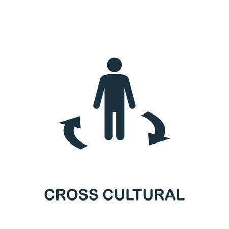 Cross Cultural icon. Simple element from life skills collection. Filled Cross Cultural icon for templates, infographics and more