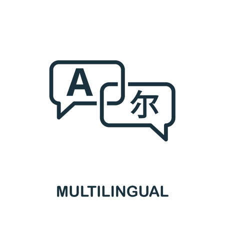 Multilingual icon. Simple element from life skills collection. Filled Multilingual icon for templates, infographics and more