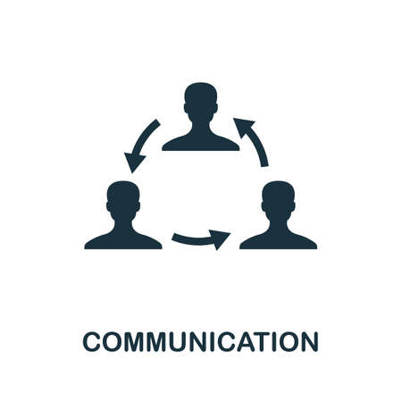 Communication icon. Simple element from life skills collection. Filled Communication icon for templates, infographics and more