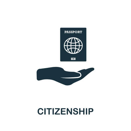 Citizenship icon. Simple element from life skills collection. Filled Citizenship icon for templates, infographics and more