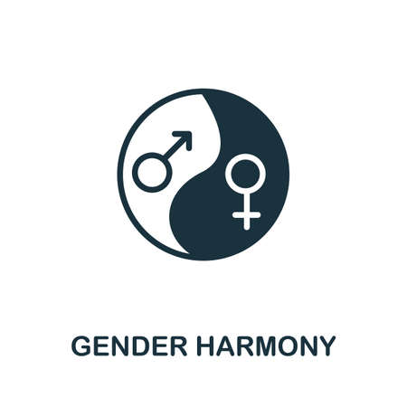 Gender Harmony icon. Simple element from life skills collection. Filled Gender Harmony icon for templates, infographics and more