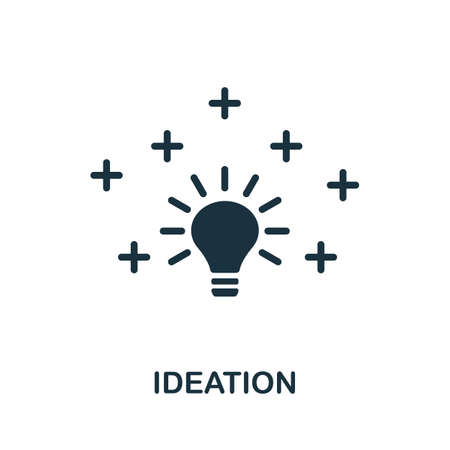 Ideation icon. Simple element from life skills collection. Filled Ideation icon for templates, infographics and more