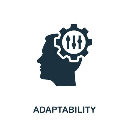 Adaptability icon. Simple element from life skills collection. Filled Adaptability icon for templates, infographics and more 矢量图像