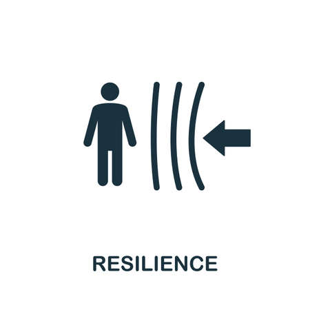 Resilience icon. Simple element from life skills collection. Filled Resilience icon for templates, infographics and more