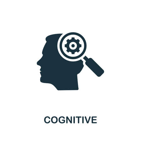 Cognitive icon. Simple element from life skills collection. Filled Cognitive icon for templates, infographics and more 矢量图像