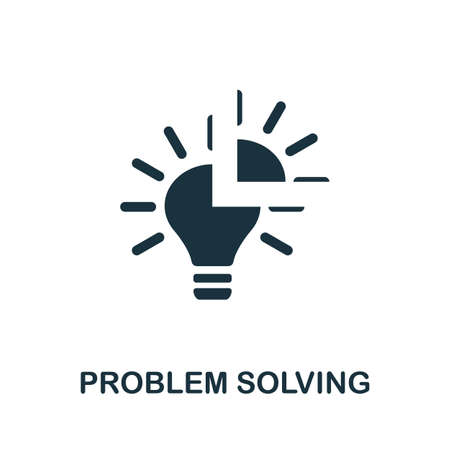 Problem Solving icon. Simple element from life skills collection. Filled Problem Solving icon for templates, infographics and more 矢量图像
