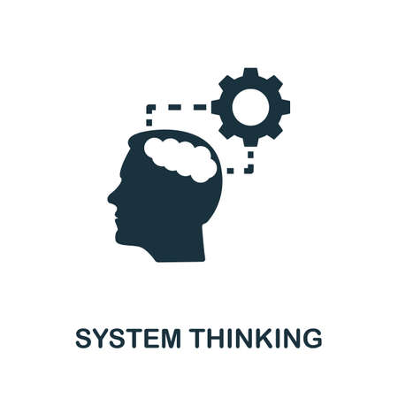 System Thinking icon. Simple element from life skills collection. Filled System Thinking icon for templates, infographics and more 矢量图像