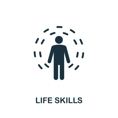 Life Skills icon. Simple creative element. Filled Life Skills icon for templates, infographics and more 矢量图像