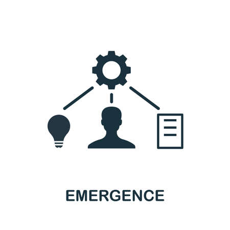 Emergence icon. Creative element sign from agile method collection. Monochrome Emergence icon for templates, infographics and more.