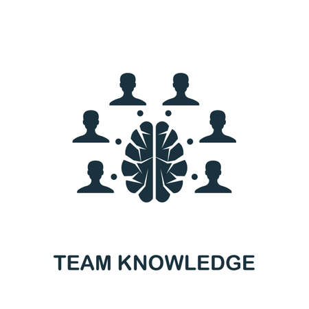 Team Knowledge icon. Simple element from agile method collection. Filled Team Knowledge icon for templates, infographics and more