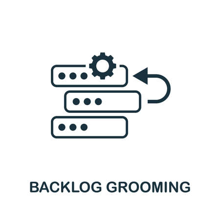 Backlog Grooming icon. Simple element from agile method collection. Filled Backlog Grooming icon for templates, infographics and more