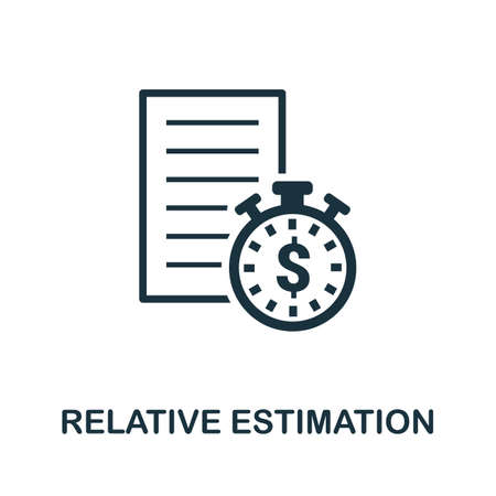 Relative Estimation icon. Creative element sign from agile method collection. Monochrome Relative Estimation icon for templates, infographics and more.
