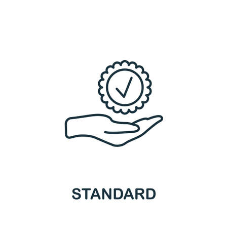 Standard icon. Simple line element from audit collection. Filled Standard icon for templates, infographics and more. Vettoriali