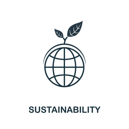 Sustainability icon. Simple line element from life skills collection. Filled Sustainability icon for templates, infographics and more.