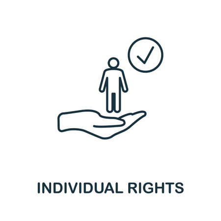 Individual Rights icon. Simple line element from gdpr collection. Filled Individual Rights icon for templates, infographics and more.