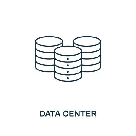 Data Center outline icon. Thin line style from big data icons collection. Pixel perfect simple element data center icon for web design, apps, software, print usage.