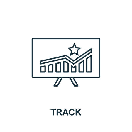 Track icon. Simple line element from loyalty program collection. Filled Track icon for templates, infographics and more.