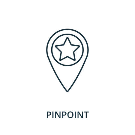 Pinpoint icon. Simple line element from navigation collection. Filled Pinpoint icon for templates, infographics and more. Ilustracja