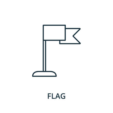 Flag icon. Simple line element from navigation collection. Filled Flag icon for templates, infographics and more.