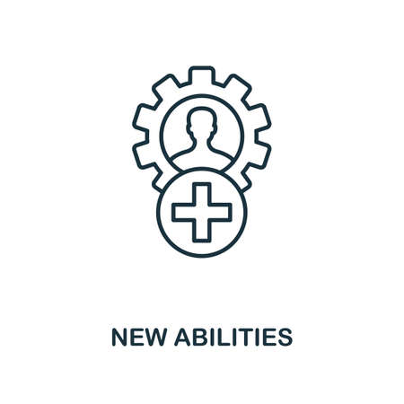 New Abilities icon. Simple line element from personality collection. Filled New Abilities icon for templates, infographics and more.