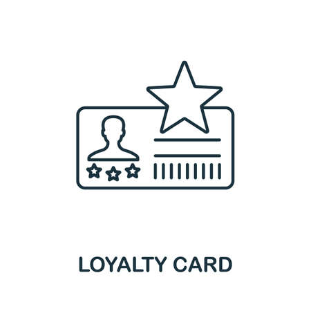Loyalty Card icon. Simple line element from loyalty program collection. Filled Loyalty Card icon for templates, infographics and more. Ilustracja