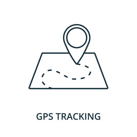 Gps Tracking icon. Simple line element from navigation collection. Filled Gps Tracking icon for templates, infographics and more.