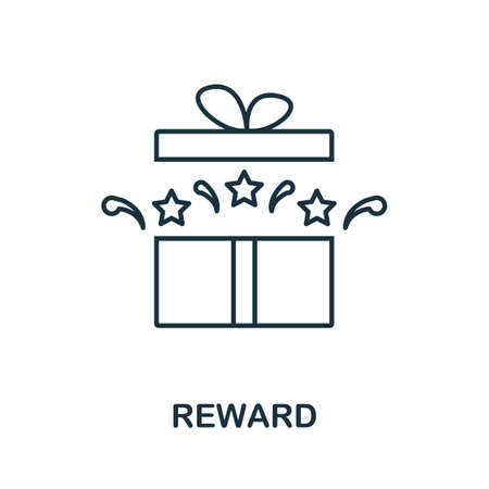 Reward icon. Simple line element from loyalty program collection. Filled Reward icon for templates, infographics and more.