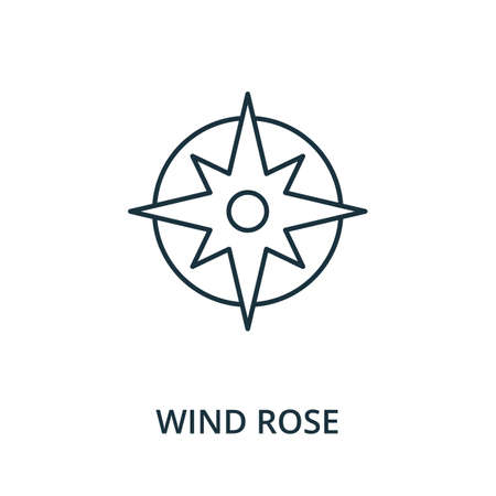 Wind Rose icon. Simple line element from navigation collection. Filled Wind Rose icon for templates, infographics and more. Ilustracja