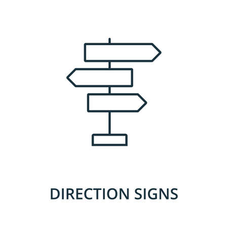 Direction Signs icon. Simple line element from navigation collection. Filled Direction Signs icon for templates, infographics and more. Ilustracja