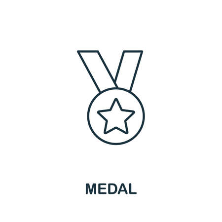 Medal icon. Simple line element from loyalty program collection. Filled Medal icon for templates, infographics and more.